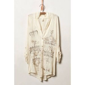 Anthropologie TINY Embroidered Stitched Nomad Top